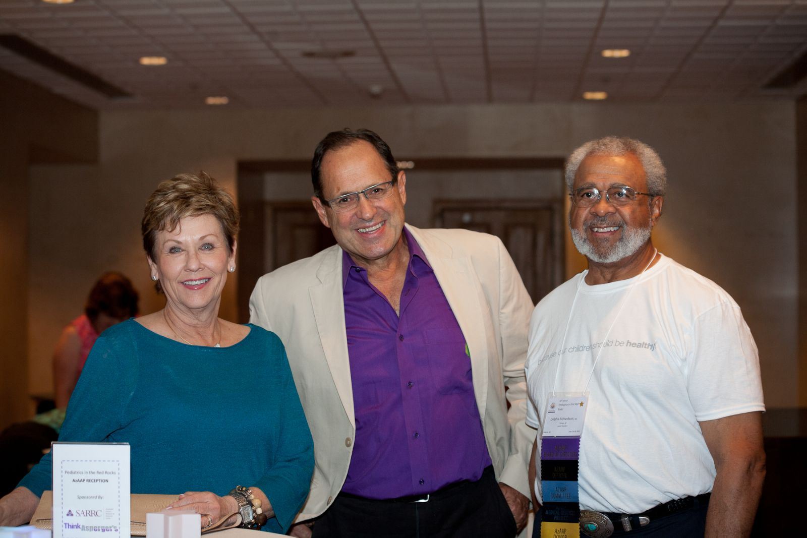 Patty Dion, Dr. Raun Melmed, and Dr. Delphis C. Richardson at the 38th Annual AzAAP Conference